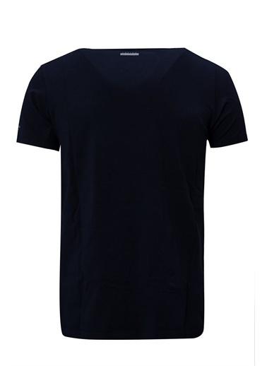 Lufian Tuna Basic T- Shirt Lacivert